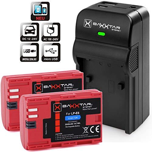 Powerextra 2 Remplacement Batteries Canon LP E6 2600mAH pour