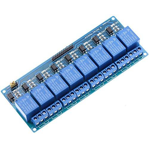 SHAHIDEER 8-Kanal Relais Modul 5V 230V Optokoppler 8 Channel Relay Shield für Arduino Raspberry Pi PIC DSP AVR ARM DIY