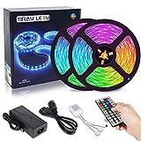 10M Tira LED RGB 5050 300 Leds, IP65 Impermeable Multicolor Tiras LED de Luces LED Kit Completo para Hogar, Restaurante, Cocina, Porche, Oficina, Dormitorio