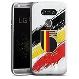 Coque en Silicone Compatible avec LG G5 Étui Silicone Coque Souple Drapeau Diables Rouges RBFA