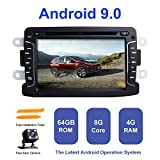 Android Car Radio Stereo,TOOPAI for Renault Duster Dacia Logan Sandero Xray 2 Android 9.0 Octa Core 4G RAM 64G ROM HD Digital Multi-Touch Screen Auto Stereo GPS Radio