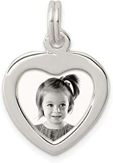 925 Sterling Silver Heart Photo Pendant Charm Necklace Frame Love Fine Jewelry For Women