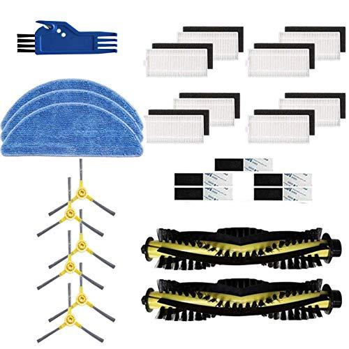 GYing 25 unids reemplazo accesorios cepillo lateral filtro trapeador paño kit para ikohs netbot s15 robot vacío