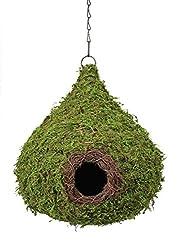 cute birdhouse designs - tear shaped moss design