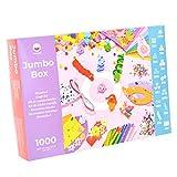 PepMelon - Jumbo Box Kit de Manualidades, 1031 Piezas, y Guía de Manualidades con...