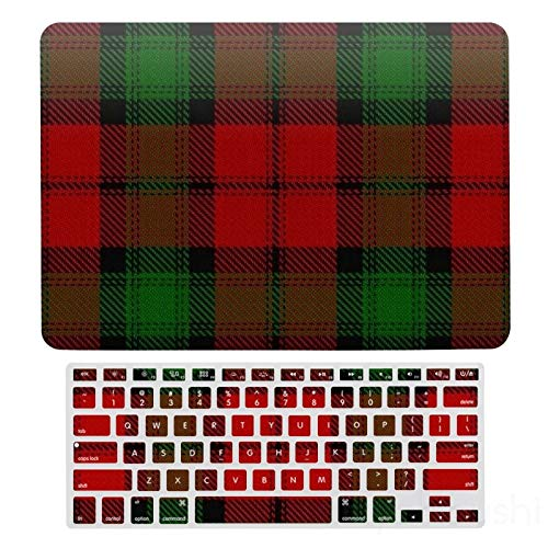 MacBook Air 13 Case A1466、A1369, Hard Shell & Keyboard Case Cover For Apple Mac Air 13, Scottish Clan Kerr Red Green Tartan Laptop Protective Shell Set