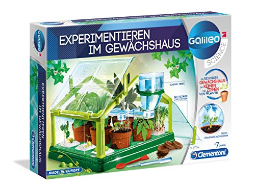 Clementoni 59081 Galileo Science – Experimentieren im Gewächshaus, Pflanzkasten & Samen für angehende Botaniker, Spielzeug für Kinder ab 7 Jahren, als Geschenkidee zu Ostern
