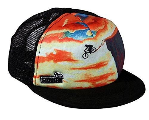 Mountain Bike Trucker Hat : Sunset Cliff Drop Black