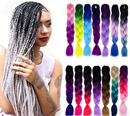 Wand Curl Crochet Braids Couleur SynthéTique Bounce Jamaican Extension de Cheveux DéGradéS pour Femmes Noires,25#