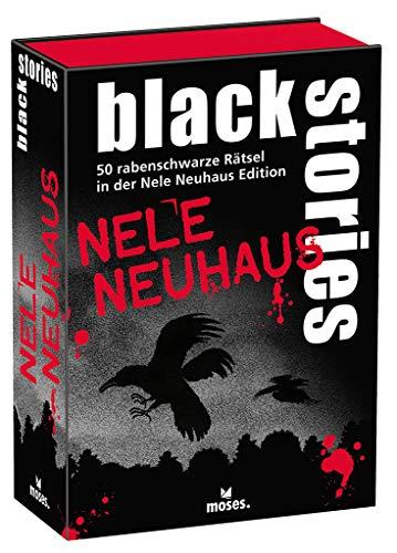 black stories Nele Neuhaus Edition - Das Spiel, 50 rabenschwarze Rätsel aus dem Reich der Krimiautorin, Das Krimi Kartenspiel