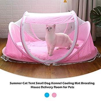 kaersishop lit de Maison de Chat de Tente de Chien Se Pliant portatif de, abri Wigwam de l'abri extérieur imperméable d'animaux, Tapis de Refroidissement de chenil de Tente de Chat d'été
