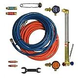 Gas Welding Cutting Kit and Gas Bottle Regulator Oxygen & Propane Portable Set
