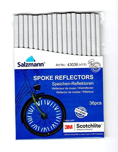 Salzmann 3M Copri raggi catarifrangenti per bicicletta, confezione da 36 pezzi. Realizzati con materiale riflettente 3M Scotchlite.