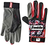 Franklin Sports MLB Digitek Baseball Batting Gloves - Gray/Red Digi - Youth Medium