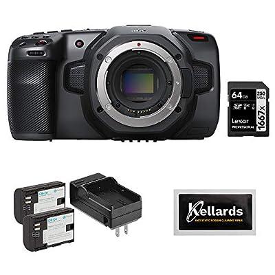 Blackmagic Design Pocket Cinema Camera 6K (Canon EF) with Lexar 64GB Pro Memory Card, LP-E6 Battery Pack & Screen Wipes (5-Pack) Bundle from Blackmagic Design