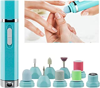 Nail Drill & Hair Removal for Women Painless 9 in 1 Electric Nail File Pedicure Tool Manicure Set Callus Remover Pumice St...