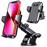 VANMASS Car Phone Mount,【Patent & Safety Certs】Upgraded Handsfree Stand, Dash Windshield Air Vent Phone Holder for Car, Compatible iPhone 11 Pro Xs Max XR X 8 7 6, Galaxy s20 Note 10 9 Plus