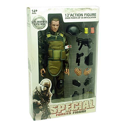 HYZH Figura de acción de soldado 1/6, 30 cm, modelo SWAT, especial policía de soldado, modelo de acción de soldado, regalo creativo para fans militares, soldado médico