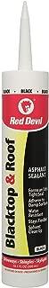 Red Devil 063612 Blacktop & Roof Repair Sealant, Pack of 12, Black, 12 Piece