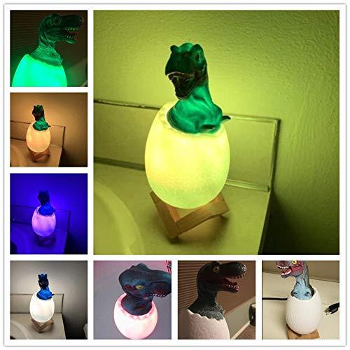 Jiushixw 3D acryl nachtlampje met afstandsbediening van kleur veranderende tafellamp dinosaurus Tyrannosaurus Rex waterkraan verjaardagscadeau leeftijd + Marokkaanse tafel