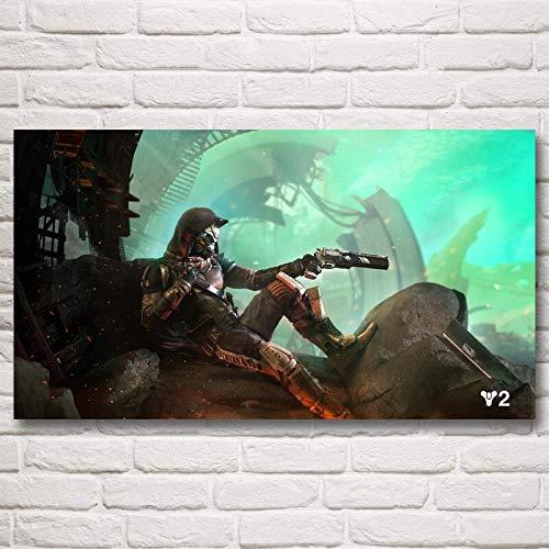 wZUN Lienzo Vida es extraño Precio Juego Arte Seda Cartel decoración del hogar Pintura 50x70 cm