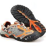 YUESFZ Zapatos De Verano De Arroyo De Secado Rápido, Calzado De Vadeo Anfibio para Hombre, Botas De Pesca Transpirables para Parejas De Senderismo Al Aire Libre (Color : Orange, Size : US-6.5(Women))