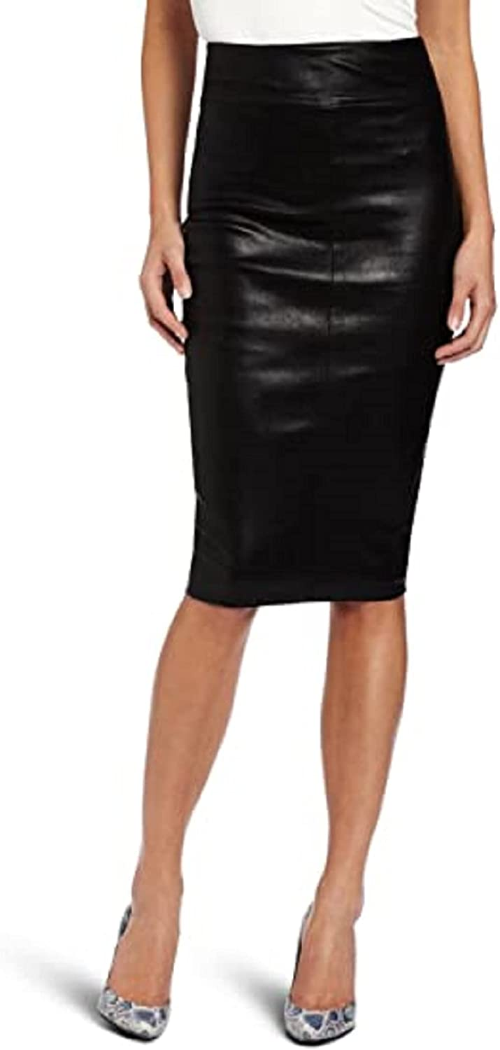 LL LEATHER LOVERS Leather Pencil Skirt for Women Below The Knee - Regular Use Skirt