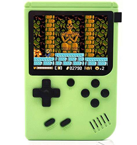O RLY 800 in 1 Handheld Spielkonsole Retro FC Plus Konsole 800 Retro Classic Spiel, 3 Zoll Bildschirm Mini Videospiel-Spieler (Apfelgrün)