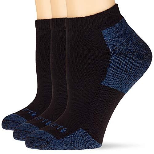 Carhartt Womens All Season Cotton (3-Pair) Socks, Black, MED