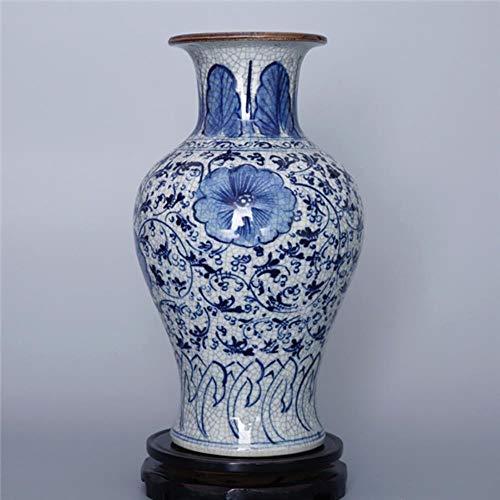 Ethan Antieke Vintage Porselein Vaas Home Decoratie Blauw en Wit Geglazuurde Keramische Bloem Receptakel Jingdezhen Bloempotten