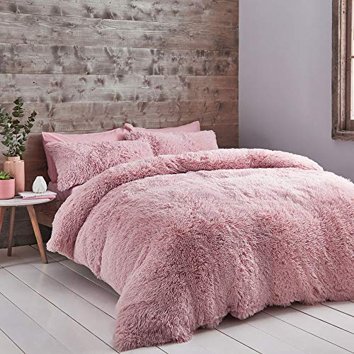 Catherine Lansfield Cuddly Double Duvet Set Blush