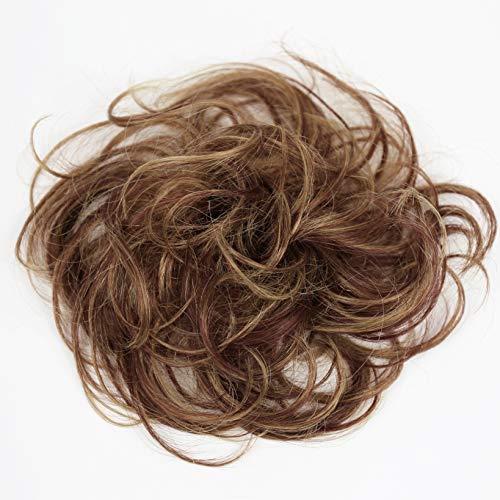 PRETTYSHOP 100% Echthaar Humanhair Haargummi Haarteil hairpiece Haarverdichtung Zopf Haarband Haarschmuck div. Farben (rotbraun mix #33H27)