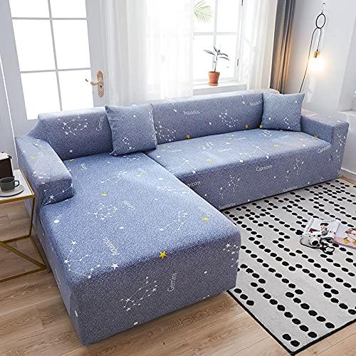 Funda elástica para sofá elástica seccional, Funda para sofá para Sala de Estar, Funda para sofá en Forma de L, Funda para sillón A12, 4 plazas