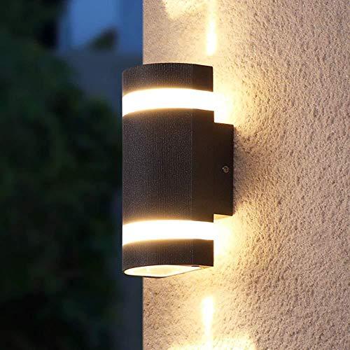 Sconce Wandlamp Zwart Eenvoudige Wandlamp Dubbele Licht Bron Buiten Waterdichte Binnenplaats Buitendeur Balkon Wandlamp Indoor Verlichting Wandlampen