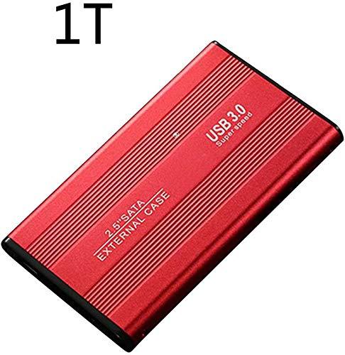 Disco Duro 2.5inch Almacenaje Accesorios Metal Externo Portátil Portátil 500 1TB 2TB B3.0 SATA3.0 para PC Gh Velocidad Disco Móvil Escritorio (500GBRed) - Rojo, 1tb