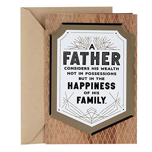 Hallmark Mahogany Father's Day Card for Dad (True Wealth Plaque)