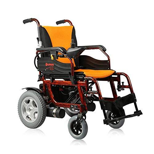 HDGZ Silla de Ruedas eléctrica Cuidado portátil Plegable Scooter de Cuatro Ruedas Aleación de Aluminio Ancianos Discapacitados Silla de Ruedas Batería Desmontable