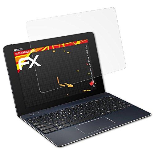 atFolix Schutzfolie kompatibel mit Asus Transformer Book T100 Chi Bildschirmschutzfolie, HD-Entspiegelung FX Folie (2X)