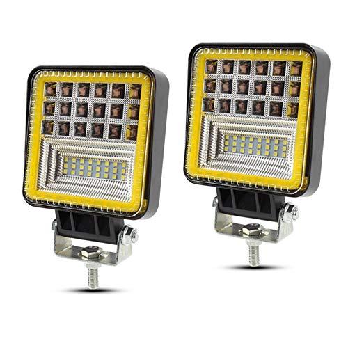 HAIHAOYF 126W LED LED Barra de luz Combo Offroad Led Fightlight, para el Tractor de Camiones SUV ATV, luz de Trabajo de la Barra LED de 24V (Color : 2pcs Square)