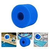 UNISOPH Esponja de filtro tipo A, 5 unidades, filtro de espuma, filtro de piscina reutilizable para Intex tipo A, filtro de espuma para piscina, acuario, spa
