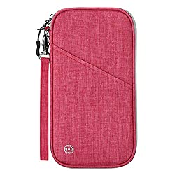Travel Document Holder to Keep Everything Well Organized: This passport holder is a great ideal for women and men. Suitable for travel, home, camping, business trip, etc. The travel passport wallet will meet all your travel needs. Keeps all your trav...
