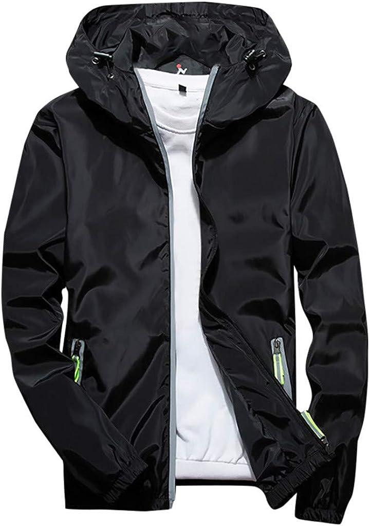 Landscap_Men Casual Plus Size Long Sleeve Hoodie Jacket Zip Up Windproof Outdoor Sport Coat Fashion,M-7XL