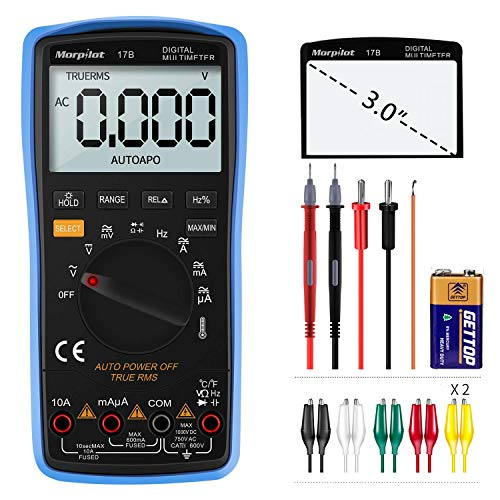 Digital Multimeter,Counts Manual and Auto Ranging