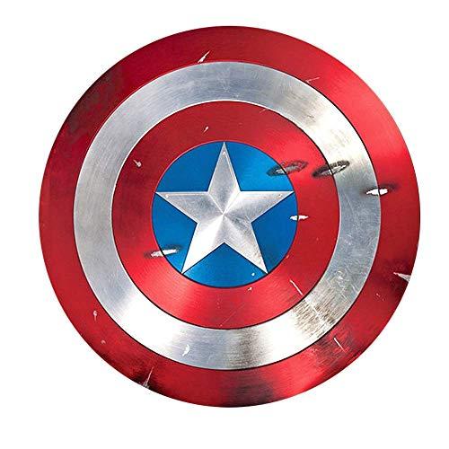 JIAOD Capitán América Escudo Avengers Marvel, Metal Shield Advanced Copy 1:1, Legends Series 22.5'/Pure Metal (Color: Soldado de Invierno)