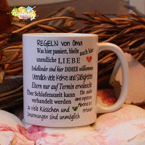 Kaffeebecher ~ Tasse - Regeln von Oma ~ Enkel ~ Großmutter ~ Weihnachten Geschenk