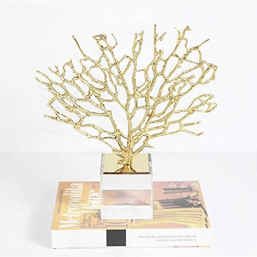 WANGXINQUAN Armario de TV de mármol nórdico de lujo de cobre para el hogar, gabinete de vino, decoración de árbol, 28 x 34 cm (tamaño: 20 x 8 x 26 cm)