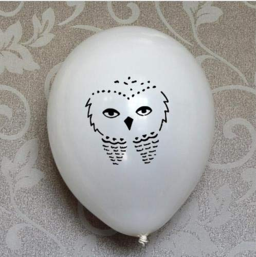 20 White Owl Latex Balloons Balloons Great for a Magical 7th 8th 9th 10th 11th 12th Birthday Party Decorations Shower Supplies