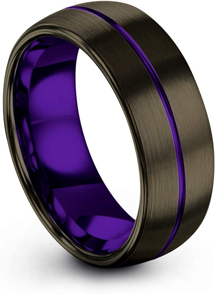 Chroma Color Collection Jacksonville Mall 5 ☆ popular Tungsten Carbide Wedding Band Ring 8mm f