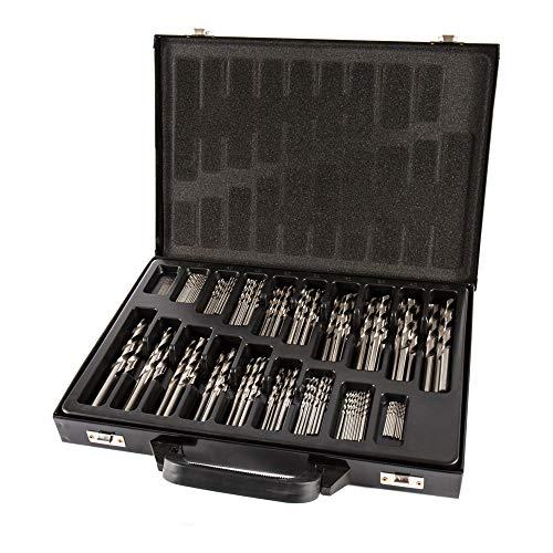 STIER Spiralbohrer Set HSS-Co8 / HSS-E, 170-teilig, Premium Metallbohrer Satz, Stahlbohrer Satz, geschliffen, zylinderischer Schaft, Cobalt Gehalt von 8{3251ba3b4d954c3e747a507923965ecff0484886d3dd6c8f231a78ae1b600b65}, DIN 338