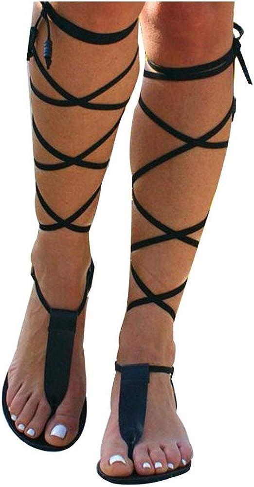 Quealent Sandals for Women Wedge,Flat Sandals Casual Summer Snak